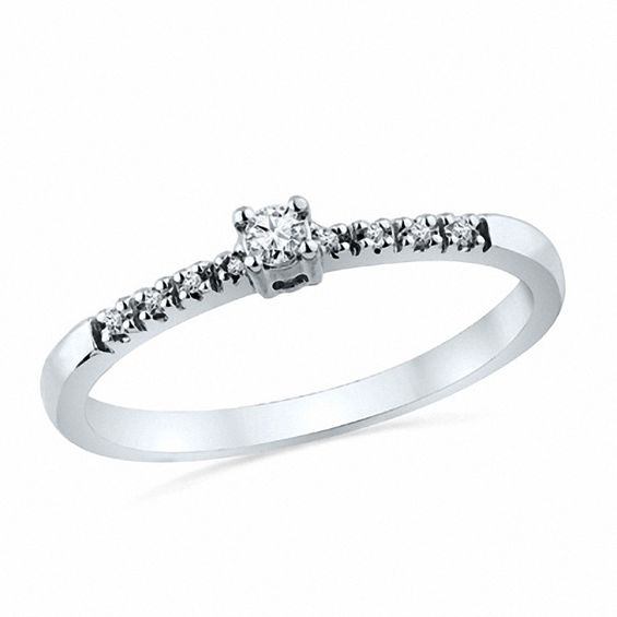0.10 CT. T.w. Diamond Promise Ring in 10K White Gold