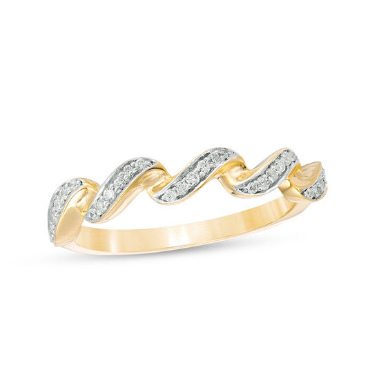 0.115 CT. T.w. Diamond Twist Stackable Band in 10K Gold