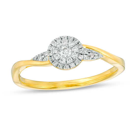 0.145 CT. T.w. Composite Diamond Promise Ring in 10K Gold