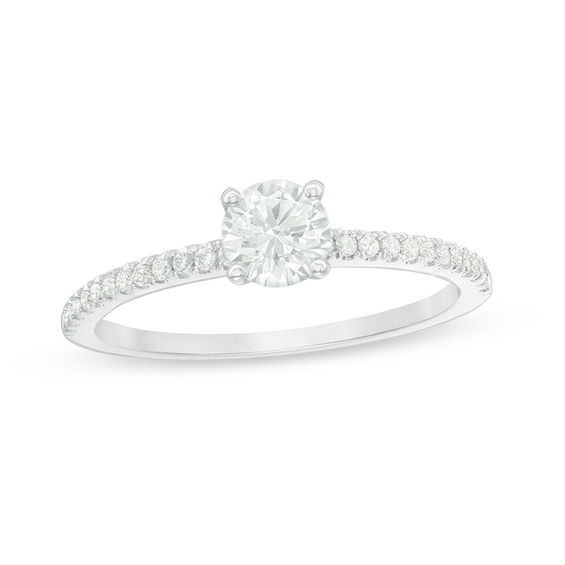 0.58 CT. T.w. Diamond Engagement Ring in 14K White Gold