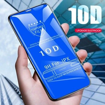 10D Tempered Glass Screen Protector For iPhone X 7 8 6 Plus Full Cover Protective Glass For iPhone XR XS Max 12 защита экрана