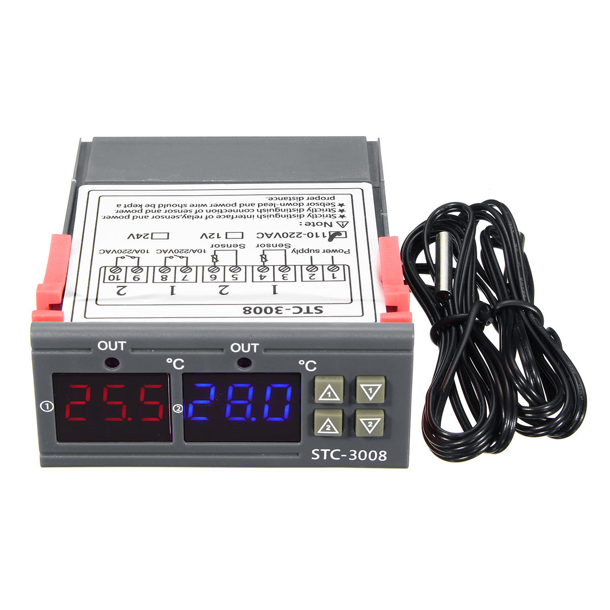 110-220V STC-3028 Dispaly Temperature Humidity Thermostat Controller Temperature Humidity Control Thermometer Hygrometer