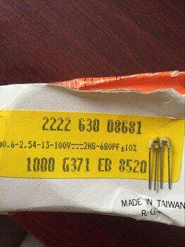 2020 hot sale Holland BC 20PCS/50PCS Silver film high frequency ceramic capacitor 100V680PF 681 10% free shipping