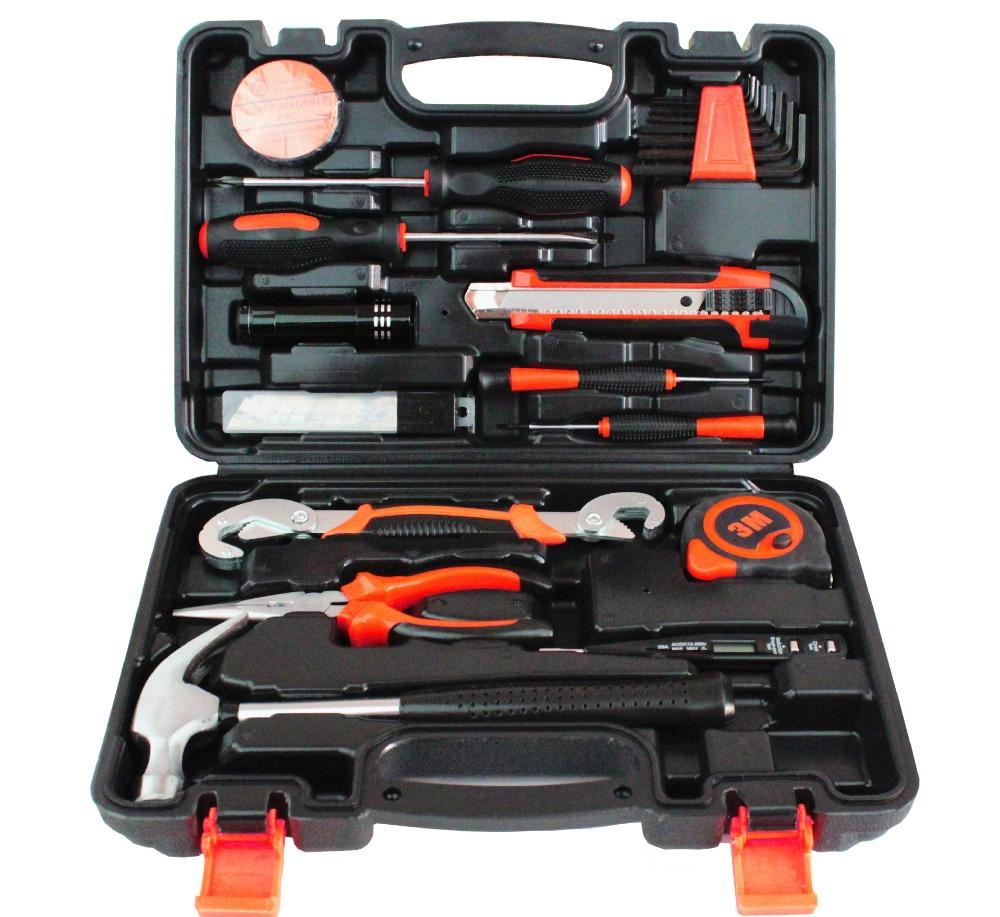 25Pcs Household Combination Kit Gift Set Hardware Toolbox Wide Application Hand Tool General Household Tools Kit