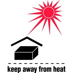 """3"""" x 4"""" Keep Away From Heat Labels (500 per Roll)"""