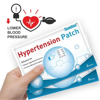 30Pcs New Hypertension Patch Chinese Herbal Lower Blood Pressure Plaster Reduce Control High Blood Pressure Plaster Health Care