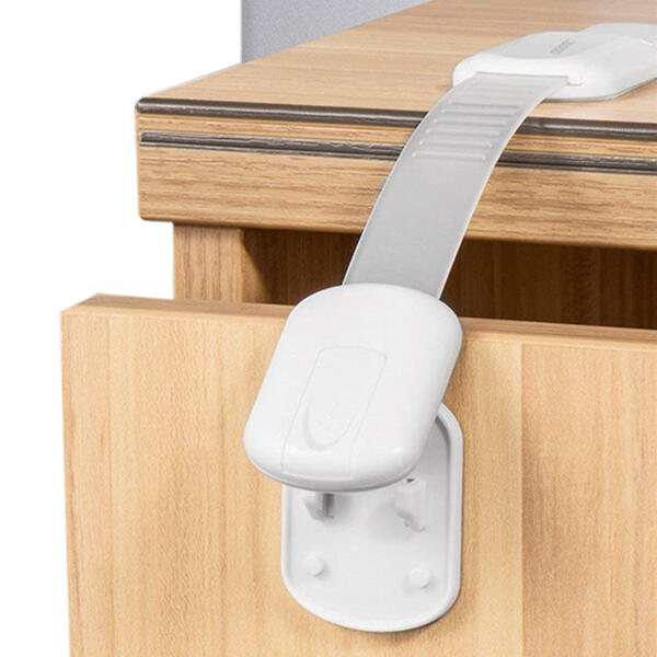 6Pcs 3M Adhesives Adjustable Strap Latches Child Proof Safety Locks in White. Size: One Size