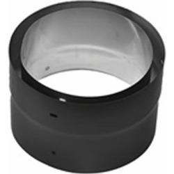 """7"""" Premium Double Wall Black Stove Pipe Adapter to Security"""