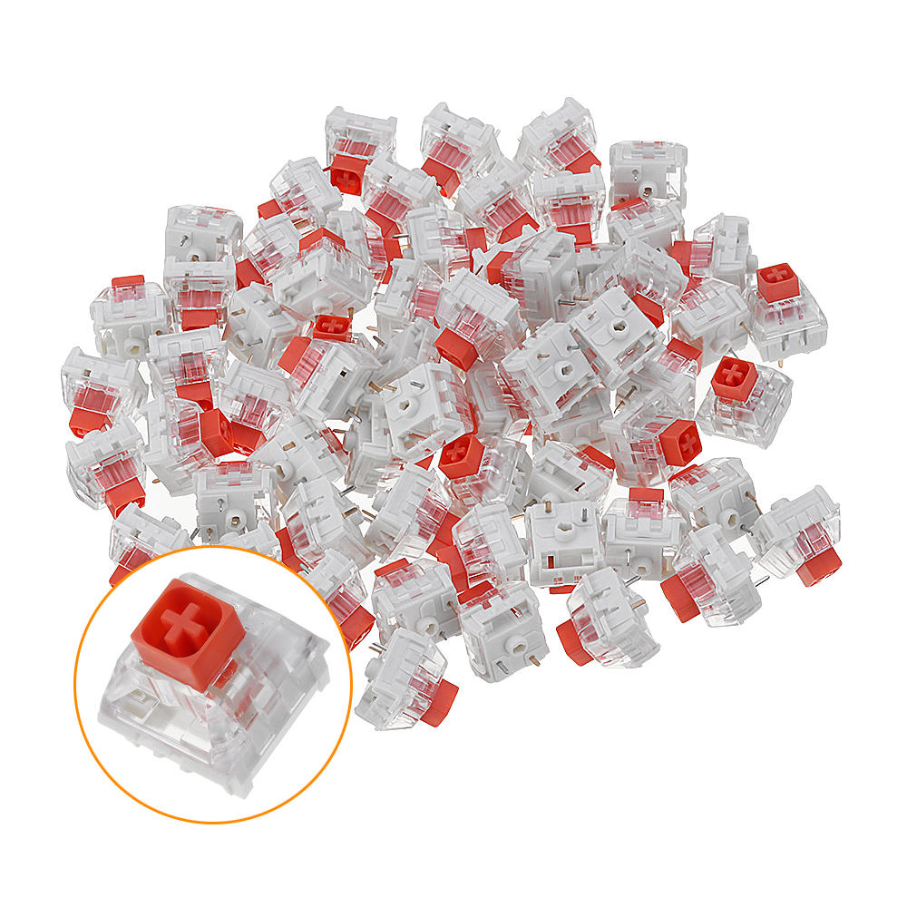 70PCS Pack Kailh BOX Heavy Burnt Orange Switch Tactile Keyboard Switch for Keyboard Customization