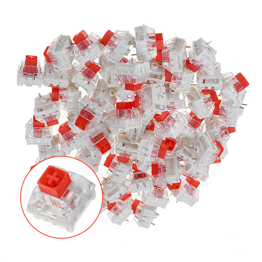 70PCS Pack Kailh BOX Red Switch Keyboard Switches for Keyboard Customization