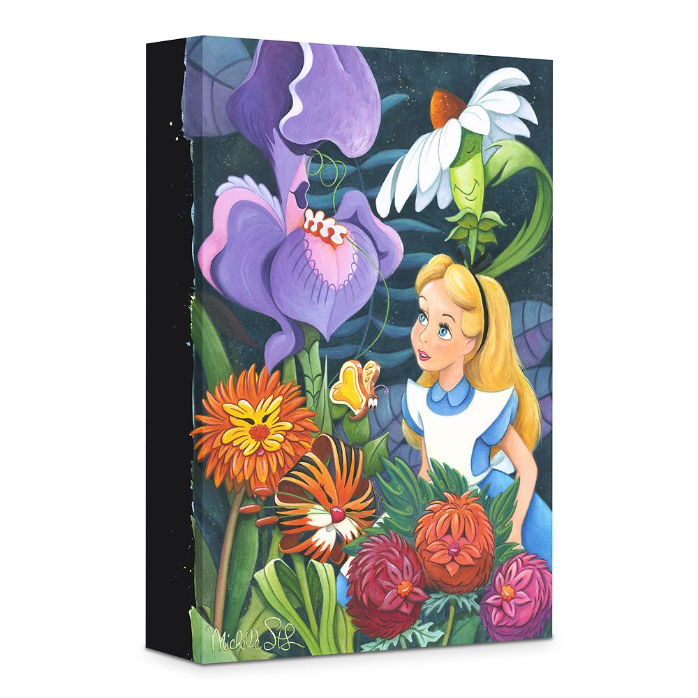 ''A Conversation with Flowers'' Gicle on Canvas by Michelle St.Laurent Official shopDisney
