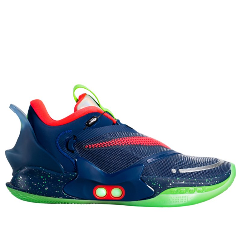 Adapt BB 2.0 'Planet of Hoops' UK Charger Blue Void/Black/Green Strike Basketball Shoes/Sneakers CV2444-401 (Size: US 8)