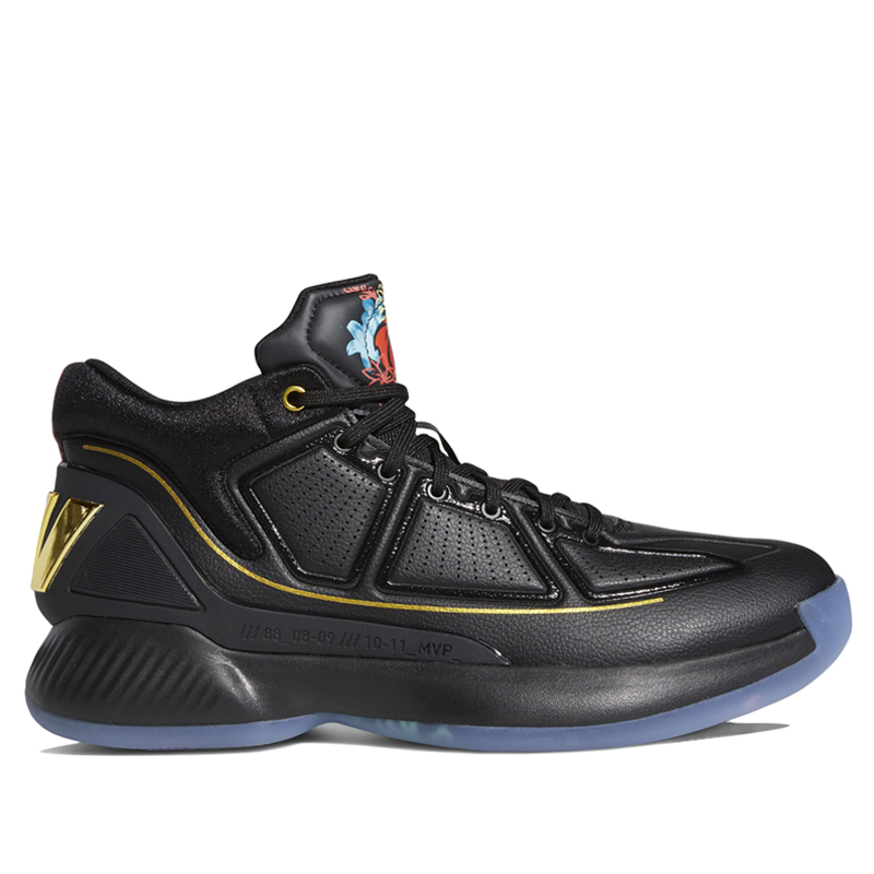 Adidas D Rose 10 Black Basketball Shoes/Sneakers EH2110 (Size: US 9.5)