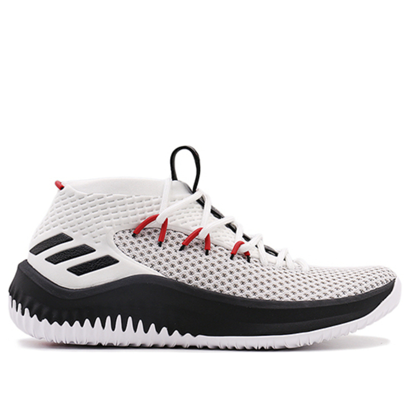 Adidas Dame 4 'Rip City' Running White/Core Black/Scarlet Basketball Shoes/Sneakers BY3759 (Size: US 9.5)