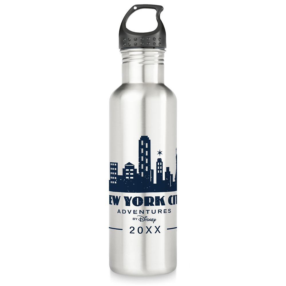 Adventures by Disney New York City Stainless Steel Water Bottle Customizable