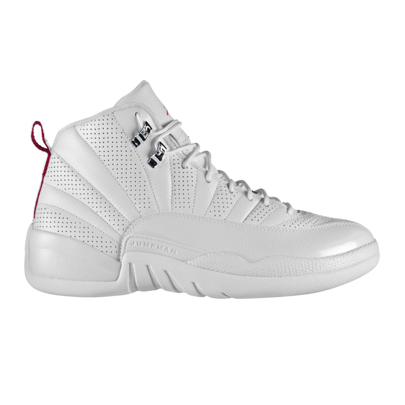 Air Jordan 12 Retro 'Rising Sun' White/Varsity Red-Black Basketball Shoes/Sneakers 130690-163 (Size: US 9.5)