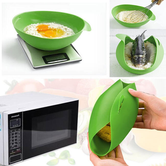 & All-purpose Foldable Silicone Cooking Pocket in Green. Size: One Size