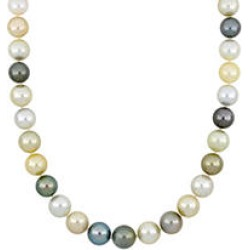 Allura 11-13 MM Multi-Colored South Sea and Tahitian Pearl Necklace in 14k Yellow Gold