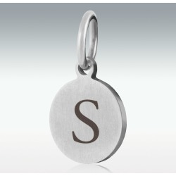 """Alphabet Charm """"S"""" for Cremation Jewelry"""