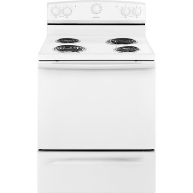 Amana ACR2303MFW-WW 4.8 CuFt Freestanding Electric Coil Range In White