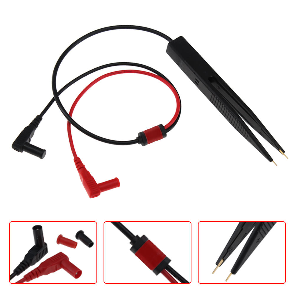 ANENG SMD Chip Component LCR Testing Tool Multimeter Pen Tweezer Red