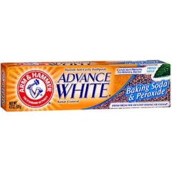 Arm & Hammer Advance White Fluoride Toothpaste Baking Soda And Peroxide 4.3 oz by Arm & Hammer