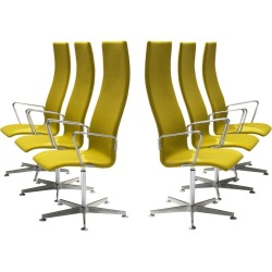 Arne Jacobsen High Back 'oxford' Swivel Chairs