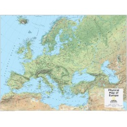 Art Print: 2014 Europe Physical - National Geographic Atlas of the World, 10th Edition: 32x24in