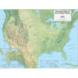 Art Print: 2014 United States Physical - National Geographic Atlas of the World, 10th Edition: 32x24in