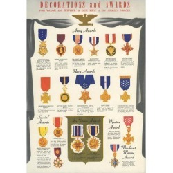 Art Print: Armed Forces Decorations and Awards, 24x18in.