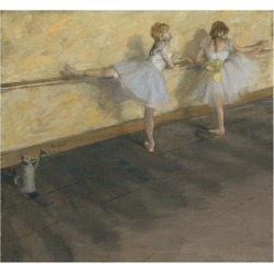 Art Print: Degas' Dancers Practicing at the Barre, 16x16in.