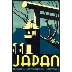 Art Print: Japan, Japanese Government Railways: 16x12in