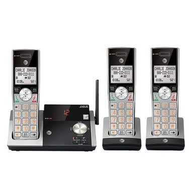 AT&T CL82315 DECT 6.0 3-Handset Cordless Expandable Phone With Answering System