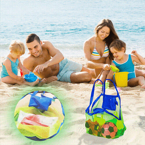 Bags Sand-Free Mesh Beach Storage Bag in Light Green. Size: One Size