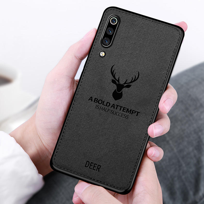BAKEEY Deer Shockproof Cloth&TPU Protective Case For Xiaomi Mi9 / Xiaomi Mi 9 Transparent Edition Non-original