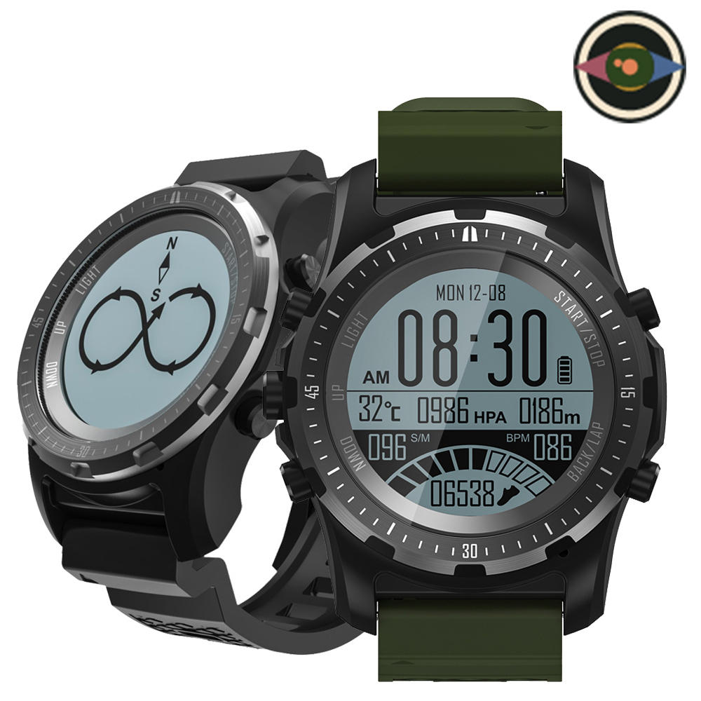 Bakeey S966 GPS Heart Rate Monitor Compass Temperature Multi-sport Modes Outdoor Watch Smart Watch
