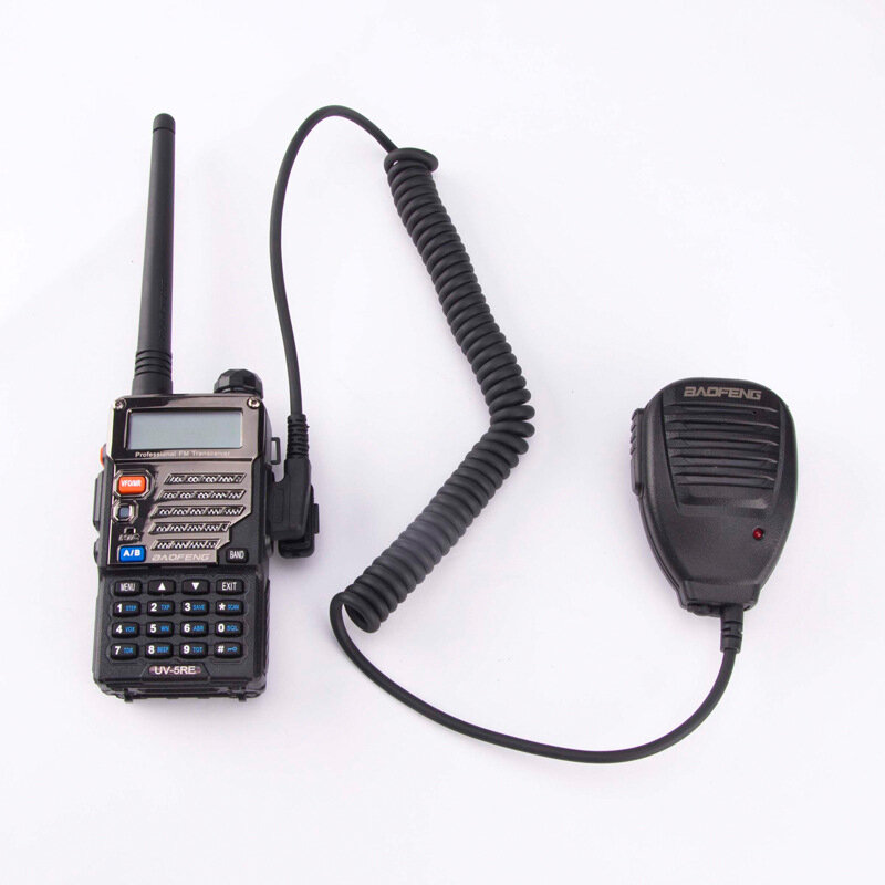 BAOFENG Handheld Microphone Speaker With Indication Light for BF-888S UV5R Radio Walkie Talkie
