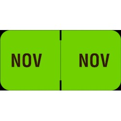 "Barkley FMBLM Compatible ""Nov"" Month Labels, Laminated Stock,1-1/2"" x 3/4"", Individual Months - Roll of 250"