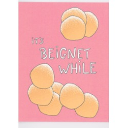 Beignet While Card