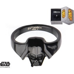 Black Stainless Steel Star Wars Darth Vader Ring