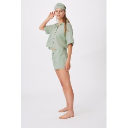 Body - Washed Woven Sleep Set Personalised - Washed mint chip
