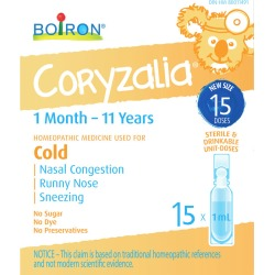 Boiron Children's Coryzalia for Cold and Cold Symptoms in Children 1 Month to 11 Years of Age 15.0 mL