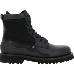 Boots Woolrich Ankle Boots In Leather And Neoprene With Trekking Laces