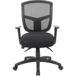 Boss Office Products Extended Comfort Commercial Ajustable Office Chair With Seat Slider