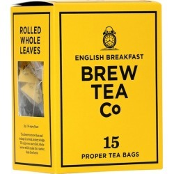 Brew Tea Co English Breakfast Tea Bags X 15