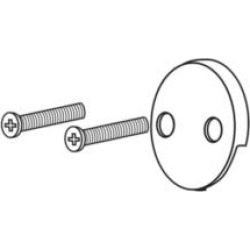 Brizo RP31556BB Brizo Overflow Plate and Screws - Toe-Operated