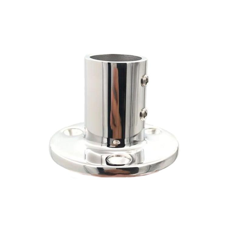 BSET MATEL Marine 90 Degree 1 inch Round Stanchion Base Boat Hand Rail Fitting Stainless Steel