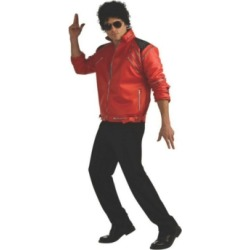 BuySeasons Men's Beat It Deluxe Michael Jackson Jacket