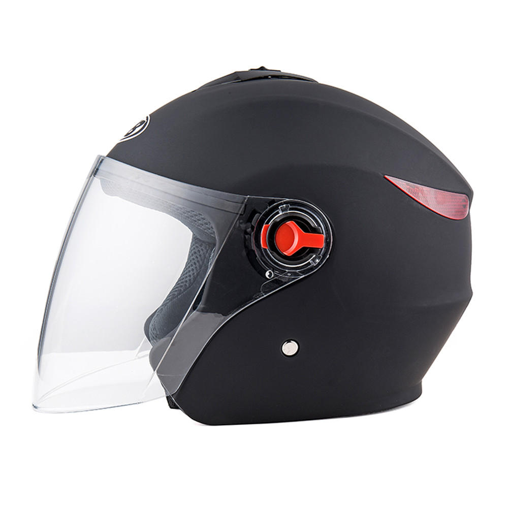 BYB Universal 56-62cm Motorcycle All Season Half Helmet Anti-fog Visor Rainproof Breathable