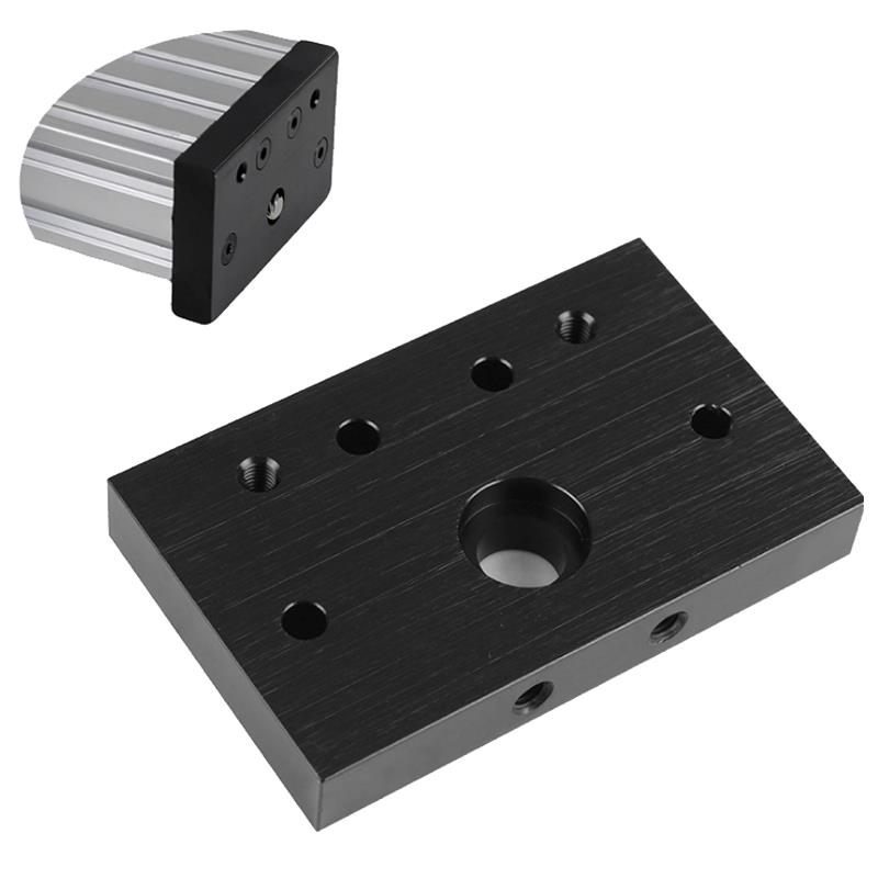 C-Beam Aluminium End Face Mounting Plate Screw End Fixing Plate for 3D Printer CNC Part